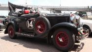 Stock Video Footage of 1929 Chrysler model 75 roadster, New Zealand flag, retro car, click for HD