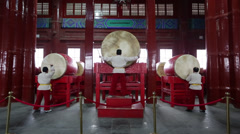 Chinese beat drums Stock Footage