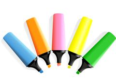 set of markers - stock illustration