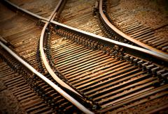 Rail tracks - stock photo
