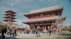 The beautiful Asakusa Shrine in Tokyo, Japan Stock Footage