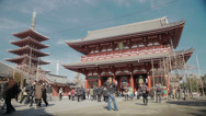 Stock Video Footage of The beautiful Asakusa Shrine in Tokyo, Japan