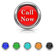 Stock Illustration of call now icon - six colours set