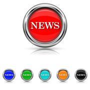 News icon - six colours set Stock Illustration