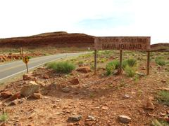 Faded Sign Declares You Are Entering Navajoland - stock photo