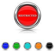 Stock Illustration of restricted icon - six colours set
