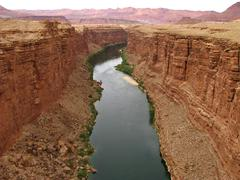 Colorado River North Entrance Grand Canyon - stock photo