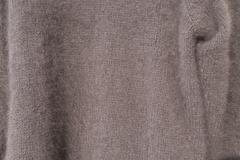 Angora sweater velcro in closeup - stock photo