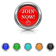 Stock Illustration of join now icon - six colours set
