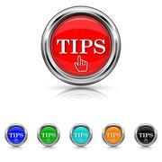 tips icon - six colours set - stock illustration