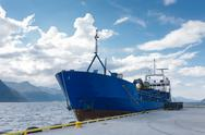 Stock Photo of Cargo boat in dock, Norway
