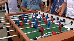 Table football tourney. Stock Footage