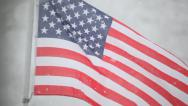 Stock Video Footage of American Flag with snow