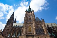 St. vitu´s cathedral in prague city Stock Photos