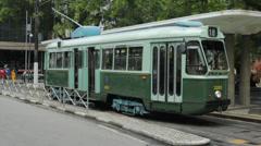 SANTOS, BRAZIL: Brazilian Heritage Tramway System, city tour of Santos Stock Footage