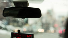 Taxicab Interior in New York City Stock Footage