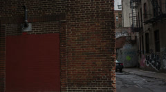 Alley in Chinatown Downtown Manhattan New York City NYC Moving Tracking Stock Footage