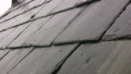 Stock Video Footage of Raining on a Victorian slate roof