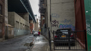 Stock Video Footage of Desolate Alley in New York City