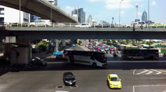 Timelapse busy traffic street in Bangkok Stock Footage