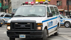 Police Vehicle in New York City Stock Footage