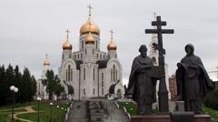 Orthodox Christian church of the Resurrection. Khanty-Mansiysk Stock Footage
