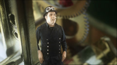 Steampunk world steam punk Stock Footage
