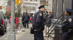 Police in New York City Stock Footage