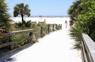 Stock Photo of siesta beach entrance