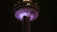 Skylon Tower at night,  Niagara Falls Stock Footage