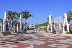 sarasota bayfront entrances - stock photo