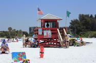 Stock Photo of siesta beach lifeguard station