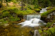 Stock Photo of Cascades in the forest
