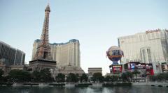 The Paris Las Vegas Casino and Resort Hotel Stock Footage