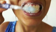 Hampaiden harjaaminen Timelapse Arkistovideo
