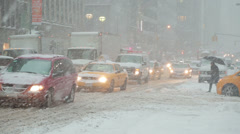 Snow Blizzard in New York City Stock Footage