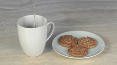 Coffee and Cookies Stock Footage
