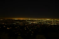 Stock Video Footage of 6K Los Angeles Night View 05 Timelapse Traffic UHD