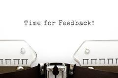 Time for feedback typewriter Stock Photos