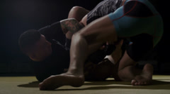 Mixed Martial Arts - Arm Bar Submission Stock Footage