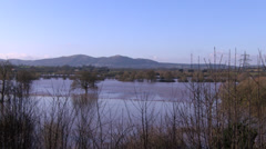 Flooded fields in Worcester Stock Footage