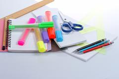 Stock Photo of back to school, close-ups, school supplies