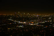 Stock Video Footage of 6K Los Angeles Night View 07 Timelapse Traffic UHD