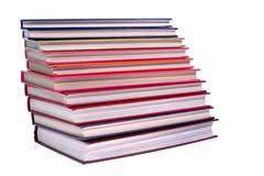 Stock Photo of hardcover books stack isolated on white