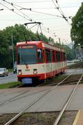 Stock Photo of tram, streetcar in gdansk, poland