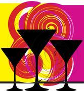 Glasses of wine illustration Stock Illustration