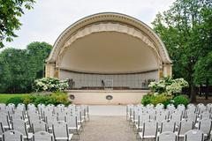 Band shell outdoor amphitheater Stock Photos