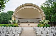 Stock Photo of band shell outdoor amphitheater