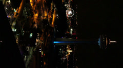 Skylon Tower and cityscape of downtown Niagara, Niagara Falls Stock Footage