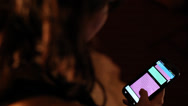 Girl Texting on Cell Phone Stock Footage